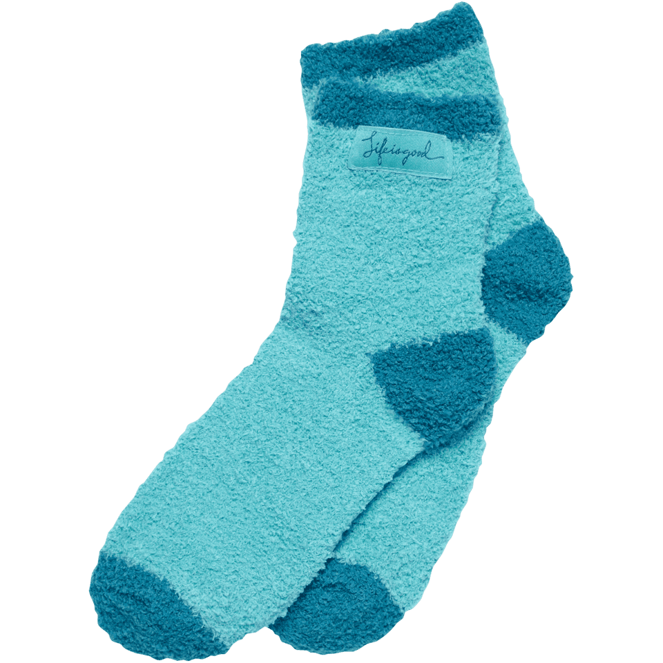 Life is good Women's Lightweight Snuggle Socks, Blue