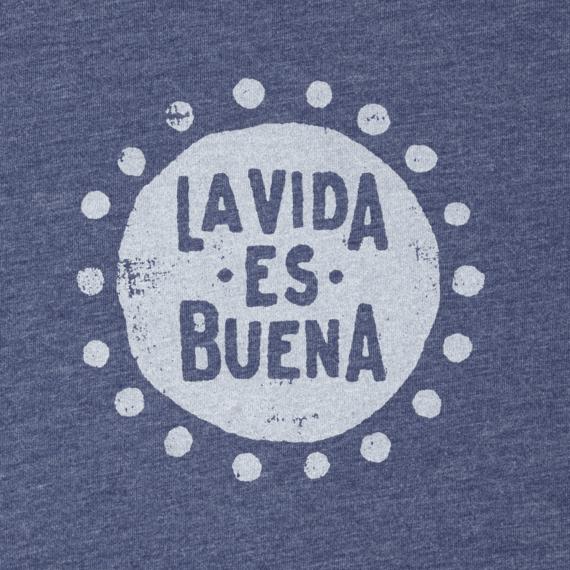 Women's La Vida Es Buena Long Sleeve Cool Tee
