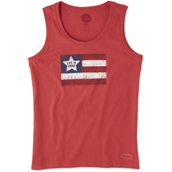 Women's Flag Sleeveless Crusher Scoop