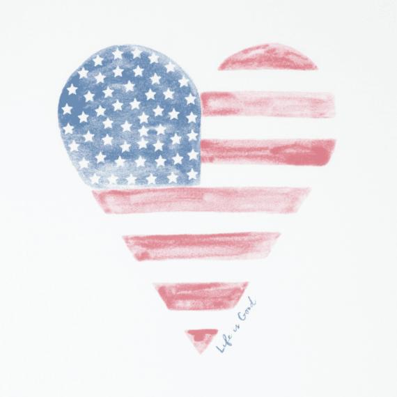Women's Heart Flag Crusher Tee