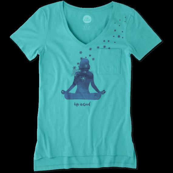 Women's Yoga Pose Pocket Vibe Tee