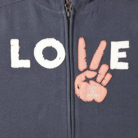 Women's Love All Good Zip Hoodie