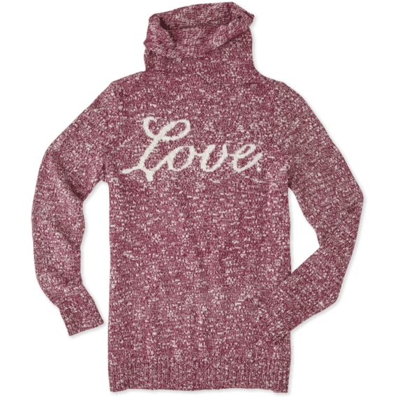 Women's Love Funnel Neck Sweater
