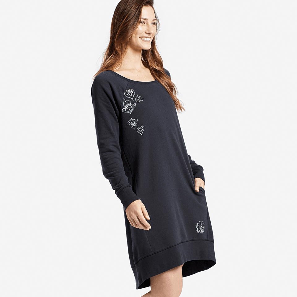 Womens Mandala Sweatshirt Dress