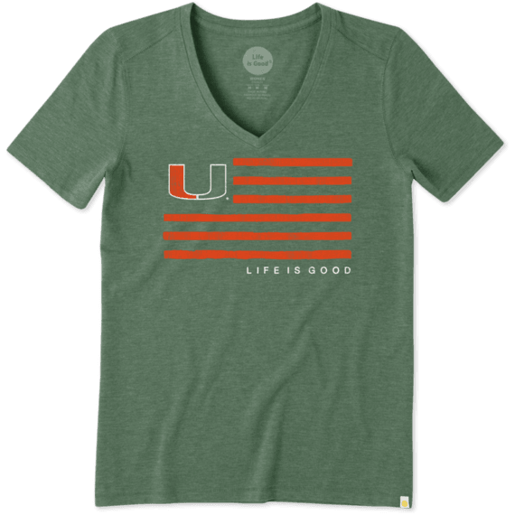 Women's Miami Flag Cool Vee