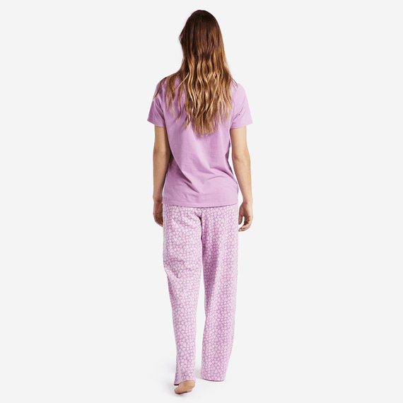 Women's Mini Hearts Jersey Sleep Pants