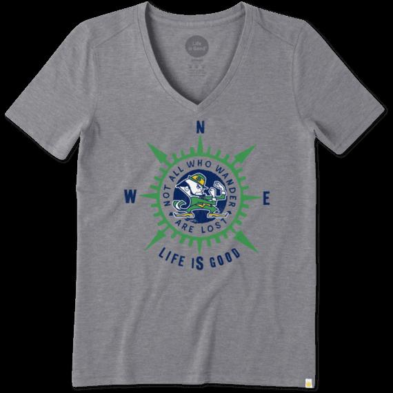 Women's Notre Dame University Wander Compass Cool Vee