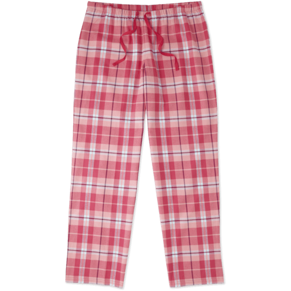 Women's Pop Pink Plaid Classic Sleep Pant