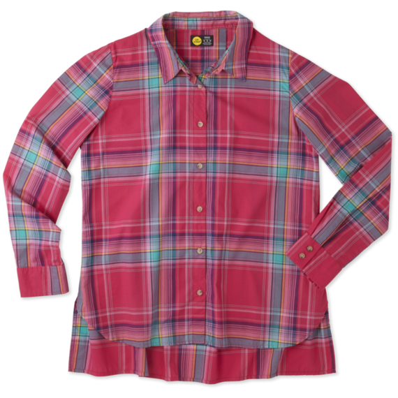 Women's Pop Pink Down Home Plaid Shirt