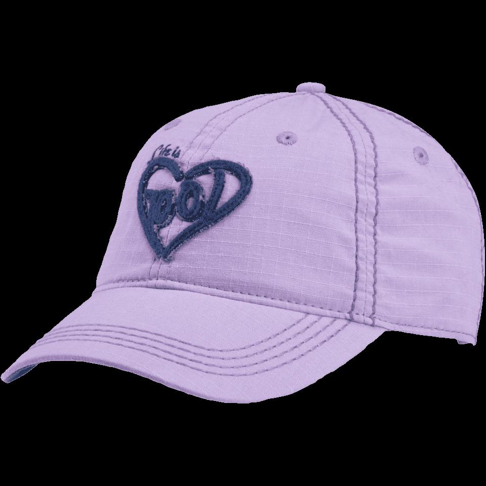 Lifeisgood Women's Heart Ripstop Chill Cap, Purple