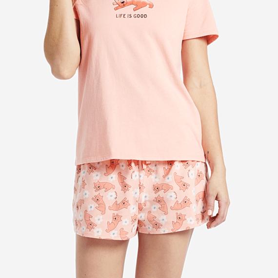 Women's Sleeping Rocket Knit Sleep Short