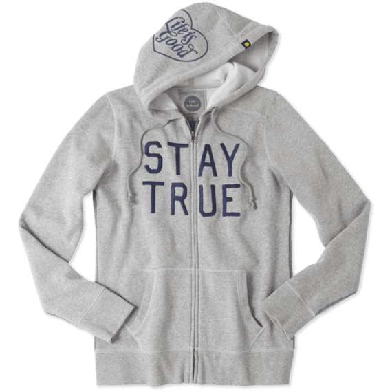 Women's Stay True All Good Zip Hoodie|Life is Good