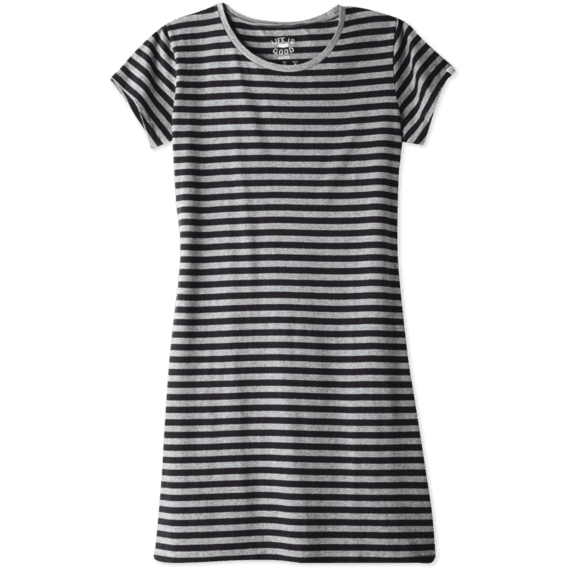 Women's Stiped T-Shirt Dress