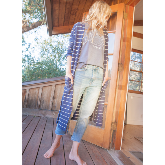Women's Double Pocket Long Cardigan