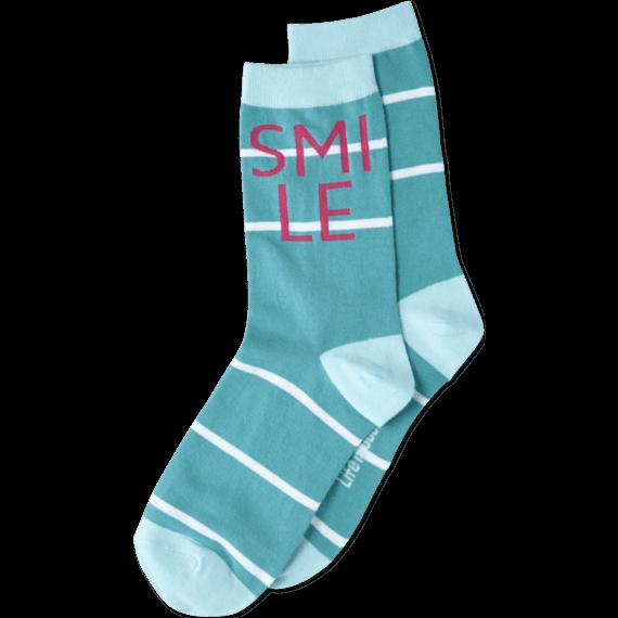 Smile Daisy Crew Socks
