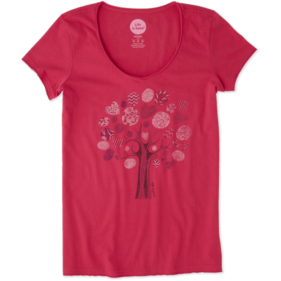 Women's Tree Patchwork Smooth Tee