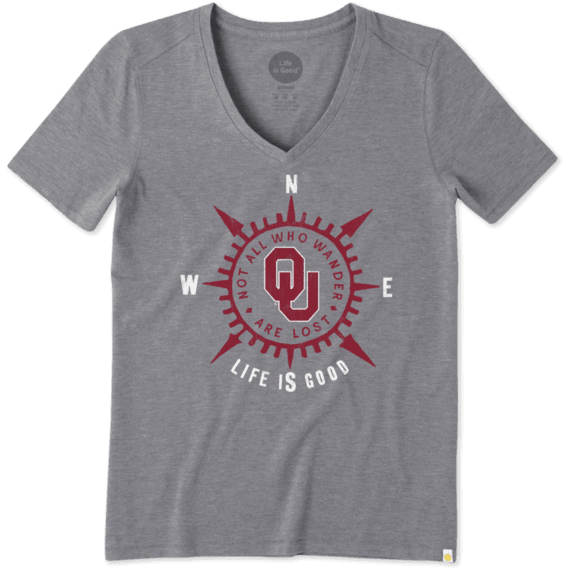 Women's University of Oklahoma Wander Compass Cool Vee