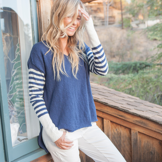 Women's V-Neck Slouchy Sweater