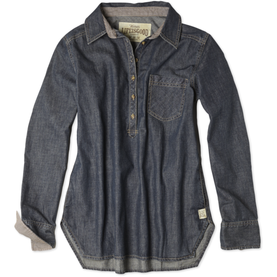 Women's Vintage Denim Popover