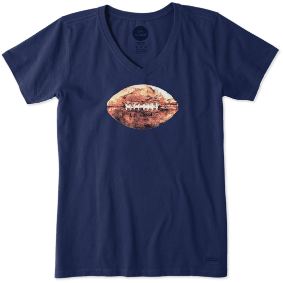 Women's Vintage Football Crusher Vee