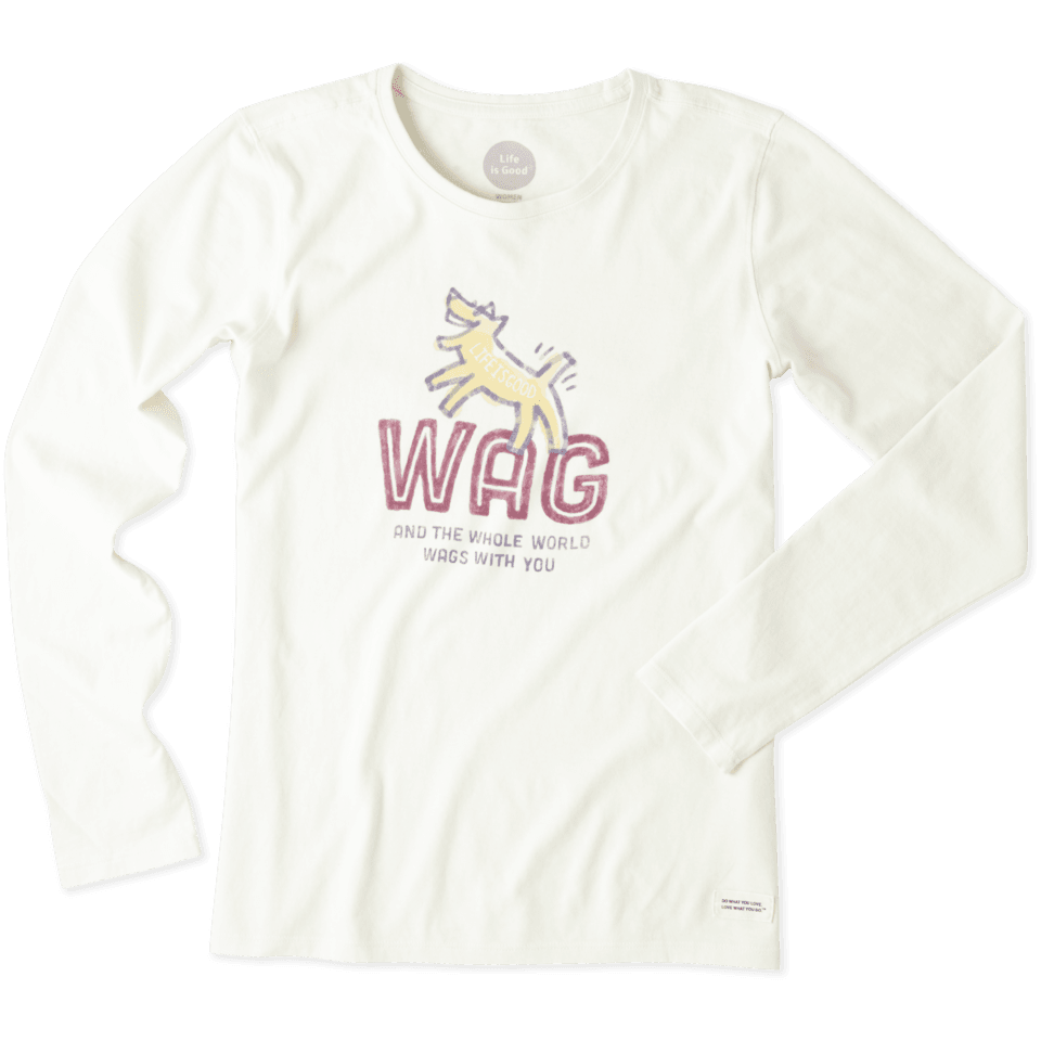 Women's Wag and the Whole World Wags with You Long Sleeve Crusher Tee 46493-XL