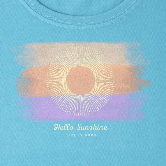 Women's Watercolor Hello Sun Crusher Scoop
