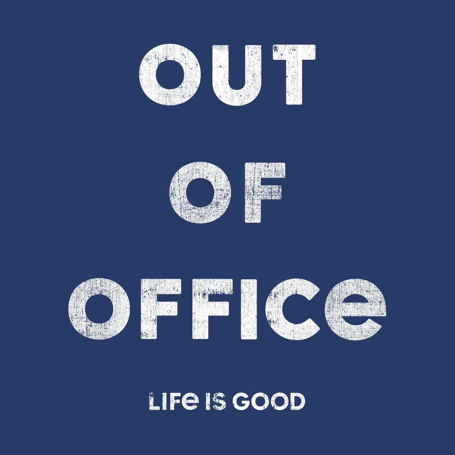 darkest blue graphic out of office