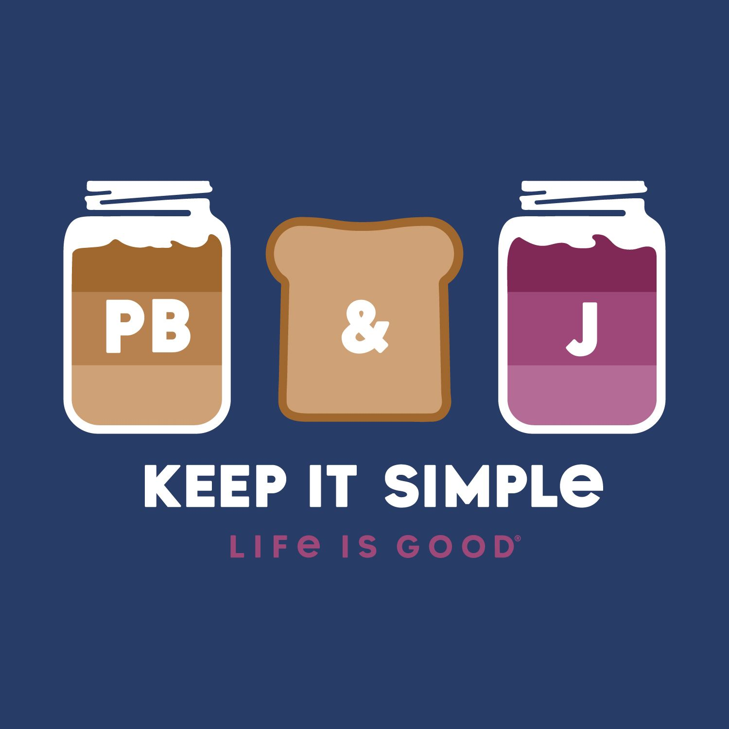 darkest blue graphic simple pb and j