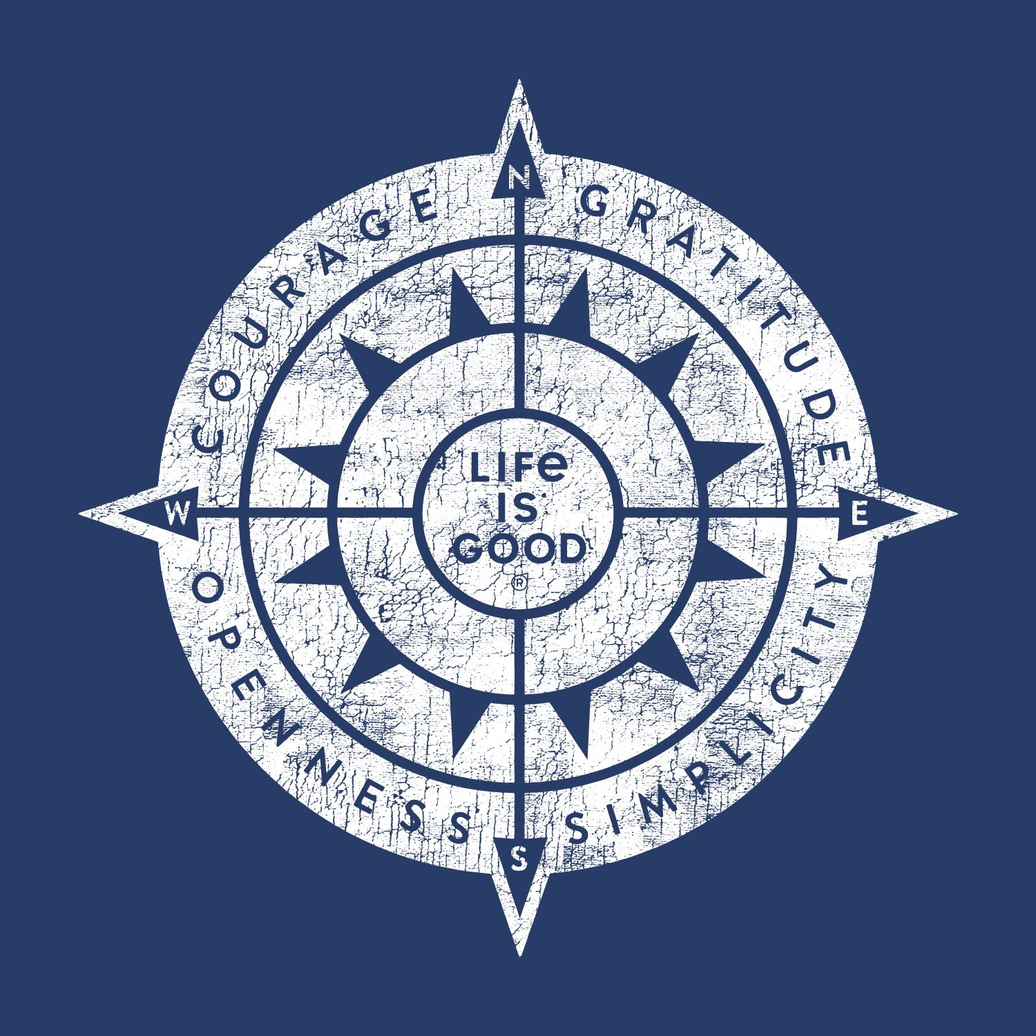 darkest blue graphic sun compass