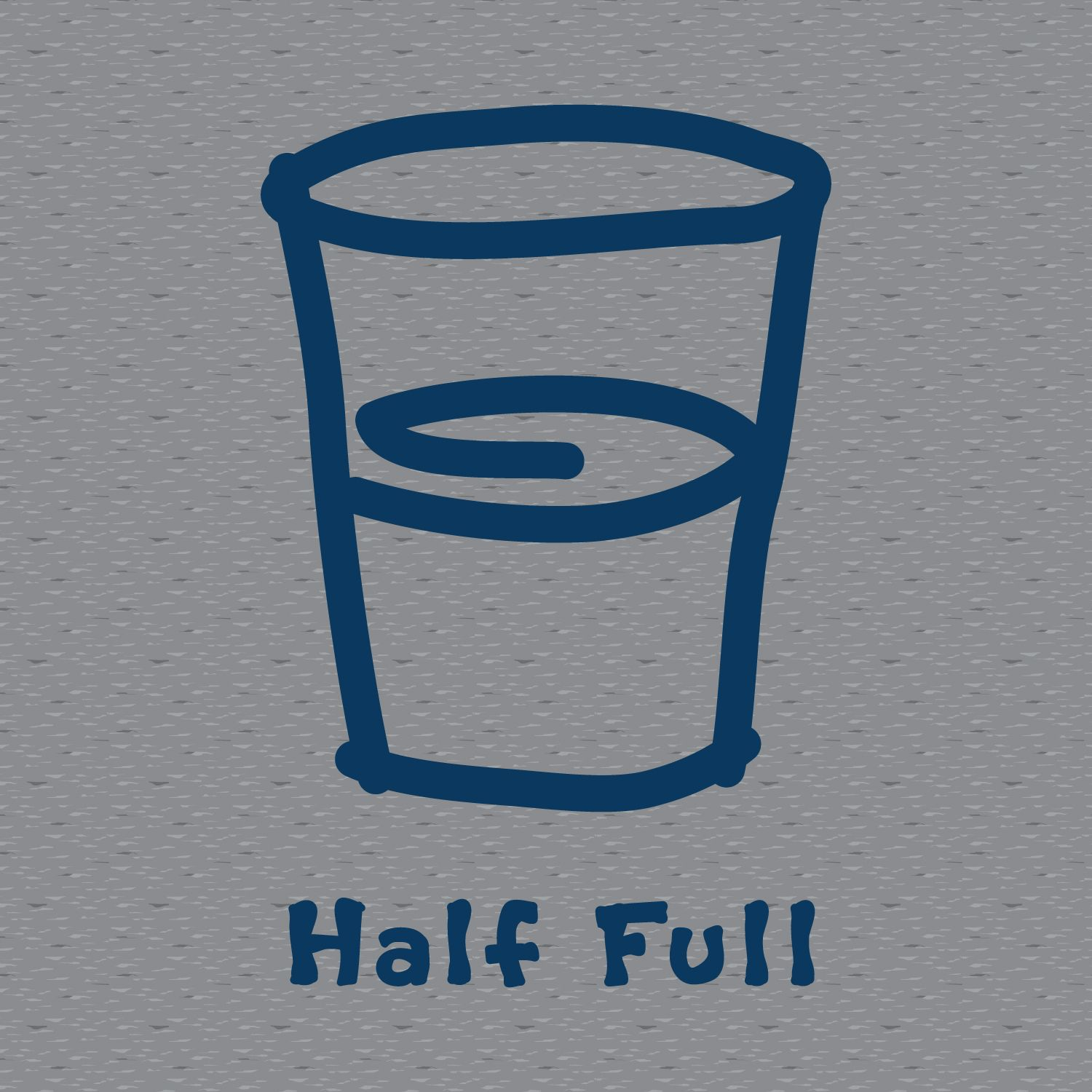 heather gray graphic half full