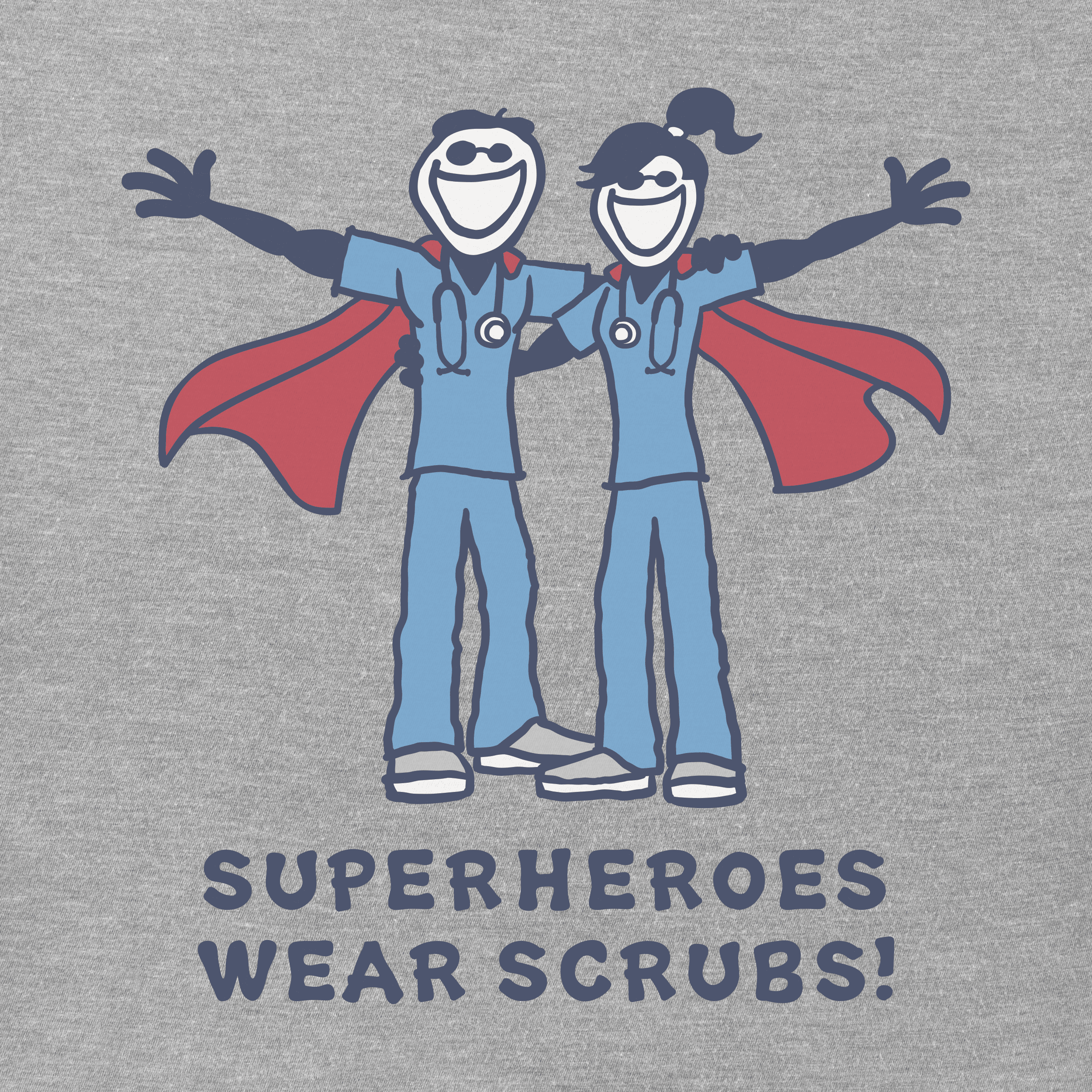 super heroes wear scrubs