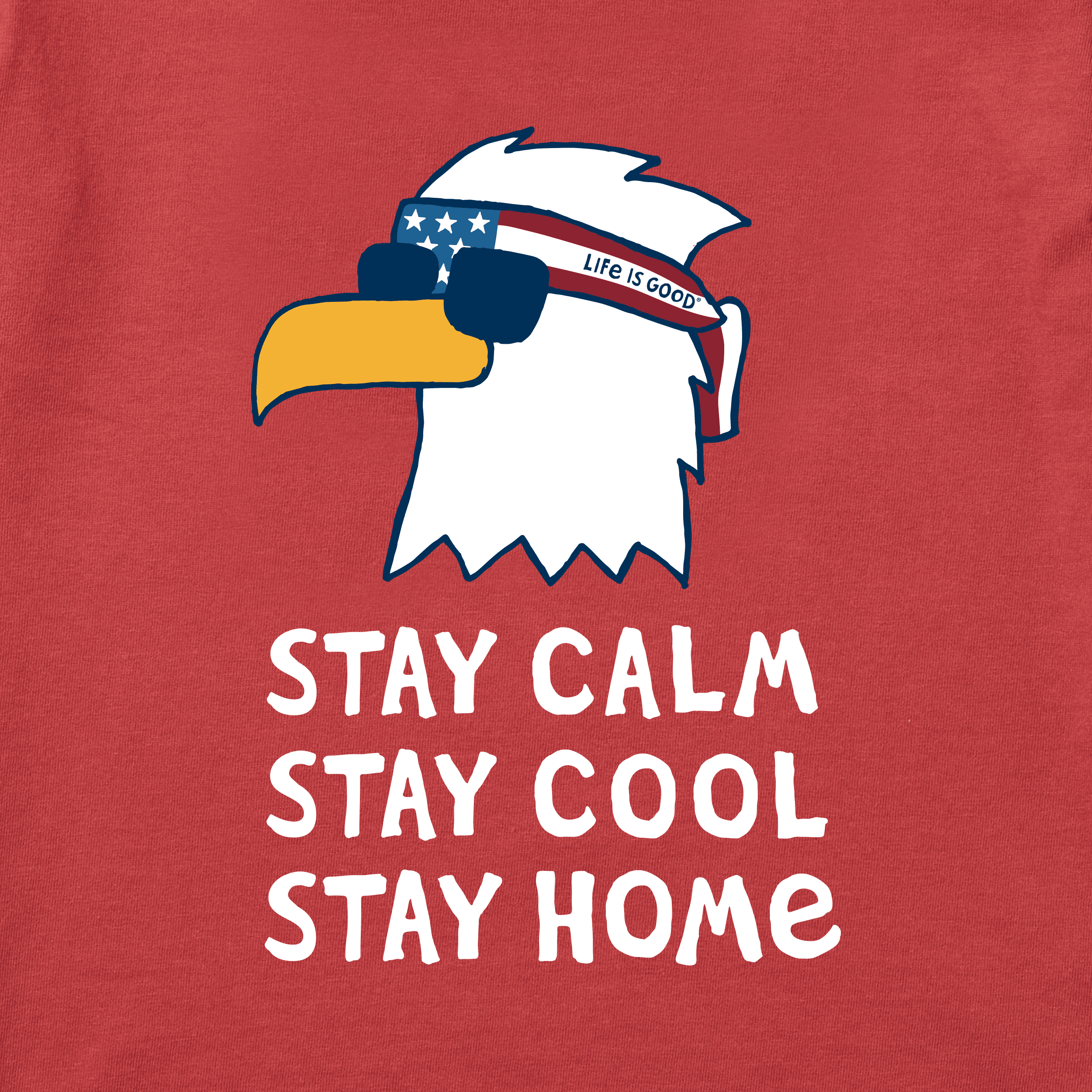 stay calm stay cool stay home