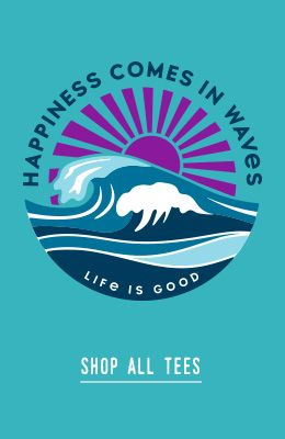 Happiness Comes in Waves- Shop all tees