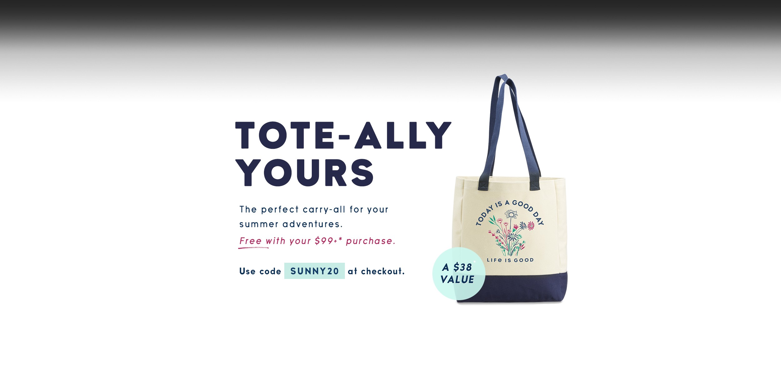 Get a free tote bag with the purchase of $99+